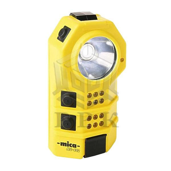 Mica ML-602 аккумуляторный ручной фонарь (6 красных и 6 желтых светодиодов)